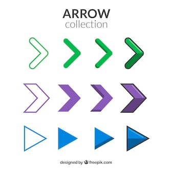 Minimalist arrows set