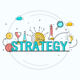 Minimalist background of business strategy
