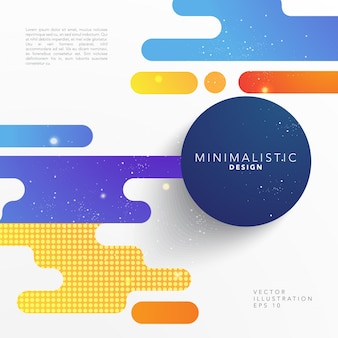 Minimalist background with abstract shapes