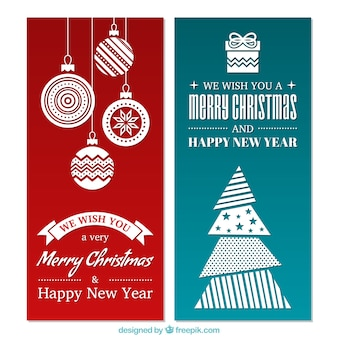 Minimalist banners for christmas