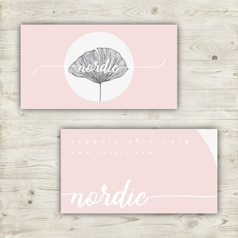Minimalist business card design in pastel colors