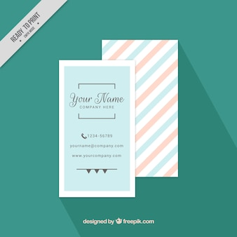 Minimalist business card in pastel colors