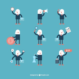 Minimalist businessman character collection
