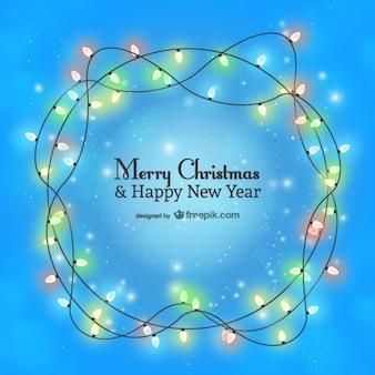 Minimalist Christmas card with lights