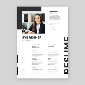 Minimalistcv template design