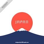 Minimalist japanese background