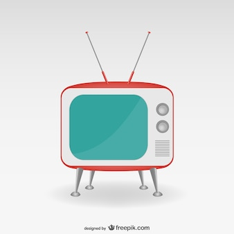 Minimalist retro TV set