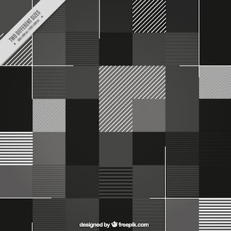 Minmalist black and white background with squares