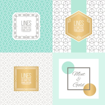 Mint and gold background design