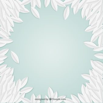 Mint background with leaves
