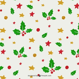 Mistletoe and stars pattern