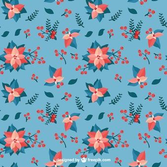 Mistletoe Blue Pattern