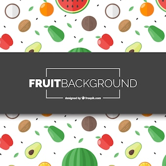 Mix fruit background
