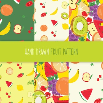 Mix fruit pattern collection