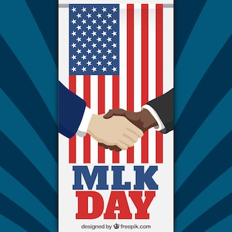 MLK day shake hands illustration