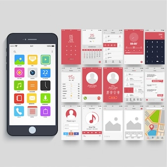 Mobile application with different navigation screens