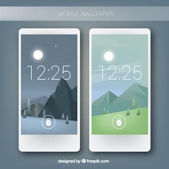 Mobile landscape background