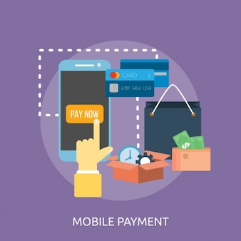 Mobile payment background design