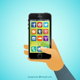 携帯電話のアプリ
