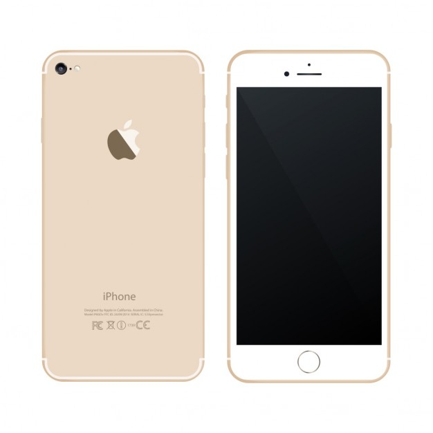 Mobile phone with golden color