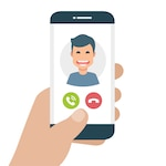 Mobile phone with incoming call