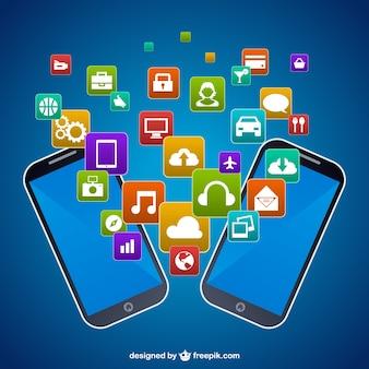 мобильные телефоны векторной графики