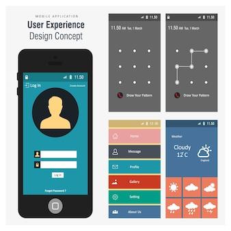 Mobile screen templates design