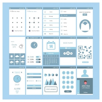 Mobile screen templates design