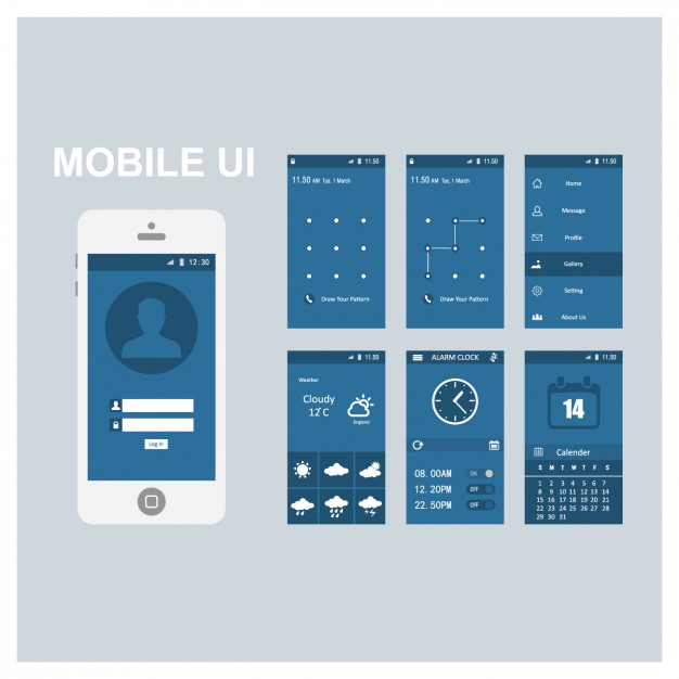 Mobile screen templates