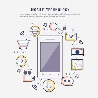 Mobile technology background
