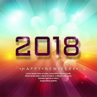 Modern 2018 new year background