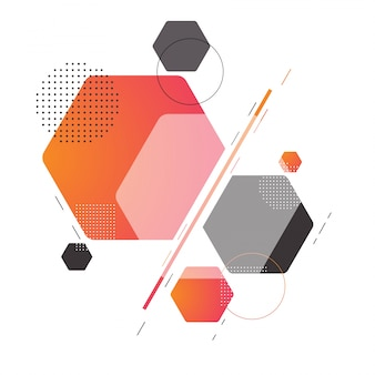 Modern abstract background with different geometric element.