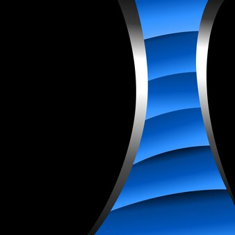 Modern abstract blue and black background
