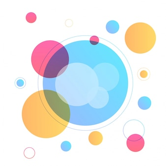 Modern abstract geometric background with colorful circle elements.