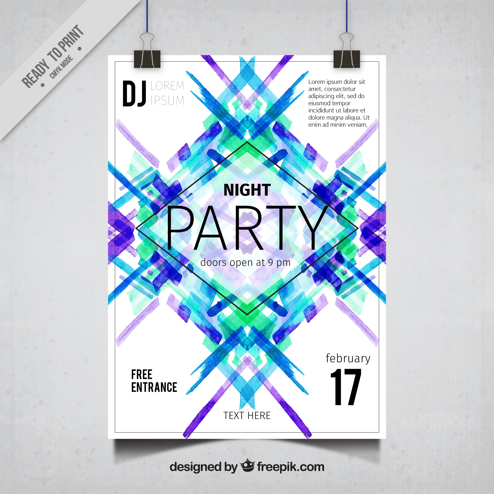 Modern abstract party poster