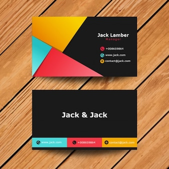 Modern Abstract Visit Card in colored style