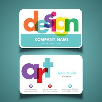макет визитной карточки для художника или дизайнера