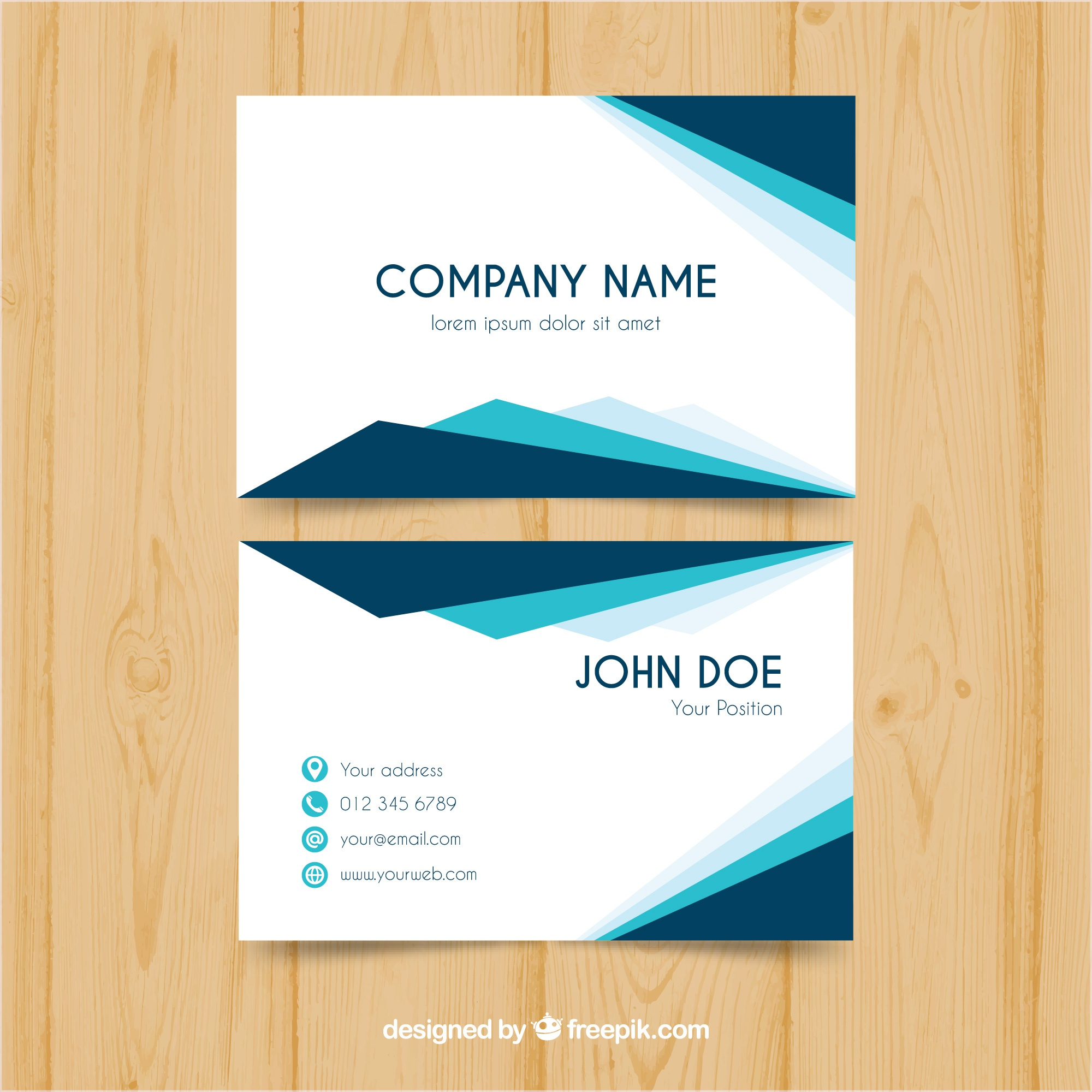 Modern and elegant business card