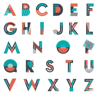 Modern and geometrical typography