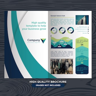 ビジネスのための近代的で専門的なパンフレット