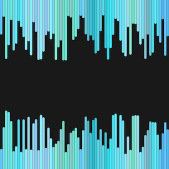 Modern background from vertical stripes in light blue tones - vector design on black background