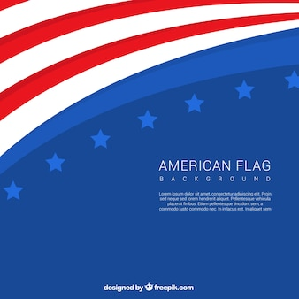 Modern background of american flag