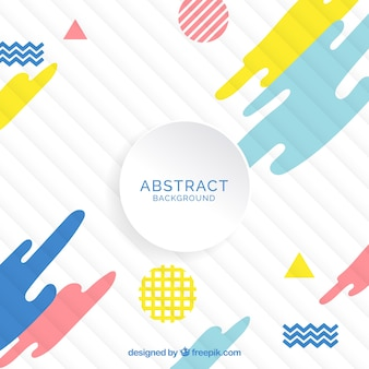 Modern background with abstract forms