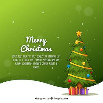 Modern background with christmas tree