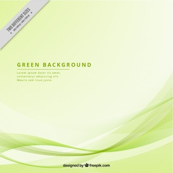 Modern background with green waves