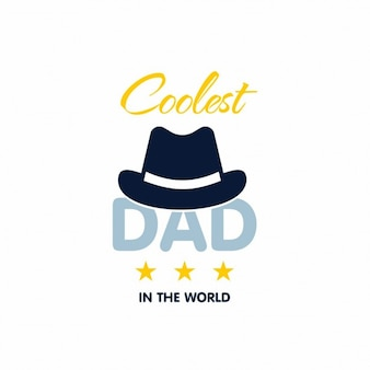 Modern background with hat for father's day