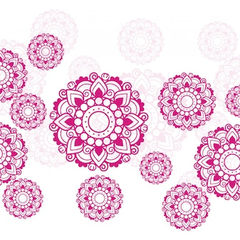 Modern background with small mandalas