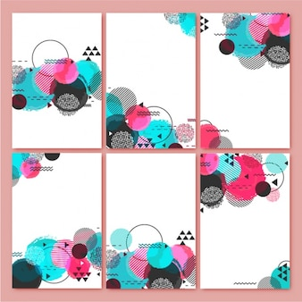 Modern backgrounds with colorful round shapes