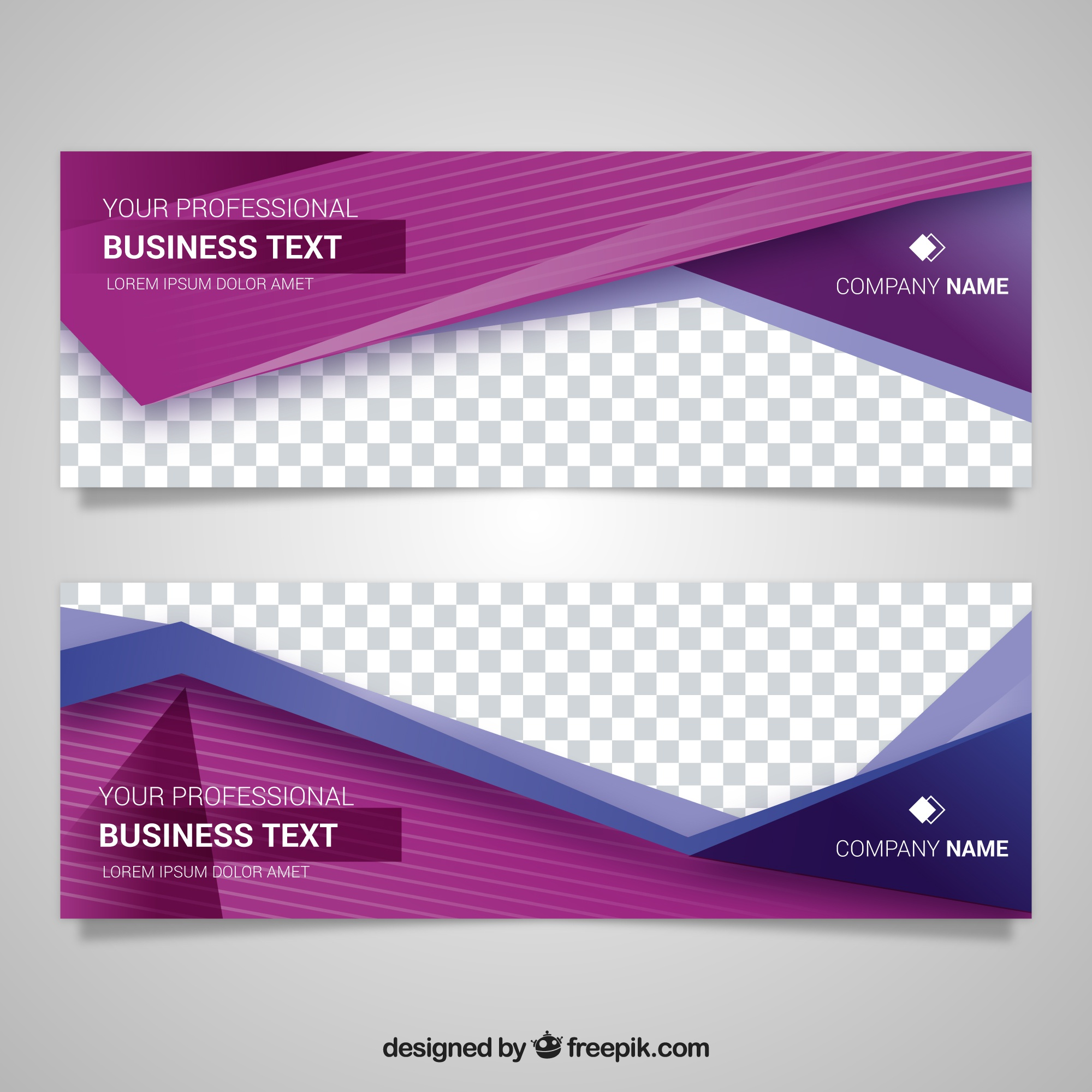 Modern banner with beautiful geometric shapes
