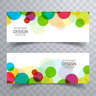Modern banners with colorful circles